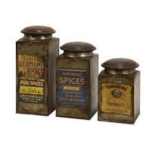 73046-3 Addie Vintage Label Wood and Metal Canisters, Set of 3, Set of  three antiqued metal canisters each with a distinctive vintage label and a  wooden lid By Imax - Walmart.com