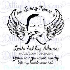 Decal In Loving Memory Infant Loss Svg Sticker Decal Car Etsy