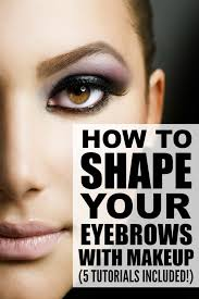 shape your eyebrows with makeup