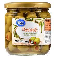 great value manzanilla olives stuffed