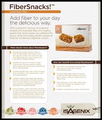 isagenix fiber snacks prebiotic fiber