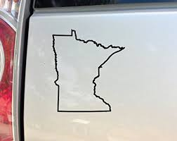 Nashville Decals Minnesota Vinyl Decal Laptop Car Truck Bumper Window Sticker 5 5 X 5 Black Wantitall