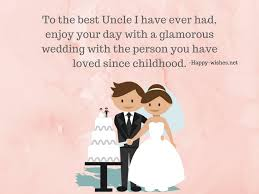 best wedding wishes for uncle marriage quotes