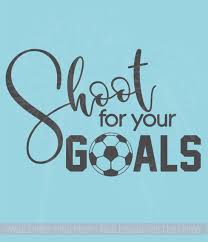 Shoot For Your Goals Soccer Wall Decal Stickers Vinyl Lettering Art Sports Decor