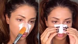 diy pore strip with egg whites