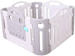Amazon Com Baby Safety Fence Baby Playpen Portable Play Yard With Gate For Babies Safety Play Gate With Fence For Kids 8 Panel 3 Panel 1 Gates Plus 4 Corner