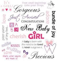 new family addition quotes girl baby girl congratulations