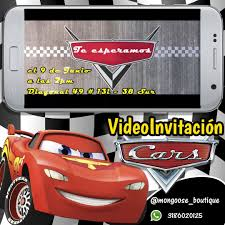 Video Invitacion De Cars Tarjeta Animada Para Cumpleanos