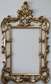 shabby chic gold frame mirror wall