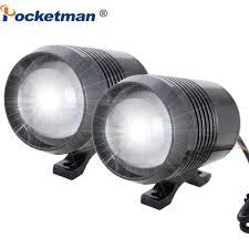 2 chiếc đèn LED xe máy U2 LED Đèn pha LED đa năng Đèn pha siêu sáng 6500K  Đèn pha xe máy