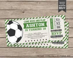 Soccer Ticket Invitation Soccer Invitation Soccer Birthday