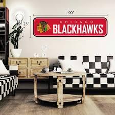 Chicago Blackhawks 90x23 Team Repositional Wall Decal Long Design Hhofecomm