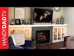 diy fireplace installation mantle and