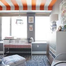 gray and orange crib bedding design ideas