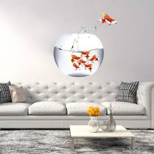 Shop Full Color Toy Gold Fish Aquarium Full Color Wall Decal Sticker Sticker Decal Size 22x22 Overstock 14947060