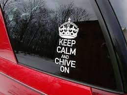 Genuine Keep Calm And Chive On Decal From The Chive Kcco Stickers Car Ebay