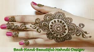 arabic mehndi design back side of hand
