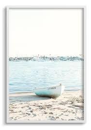 harbor boat ocean framed wall art