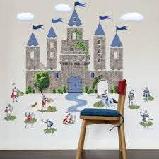 Large Medieval Castle Wall Decal With Knights Decals Etsy