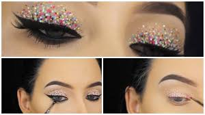 confetti eyes makeup tutorial
