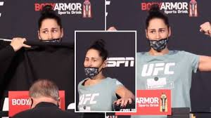 UFC Star Jessica Eye Shakes And Struggles To Stand After Brutal Weight Cut  - SPORTbible