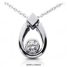 tear shape style solitaire pendant
