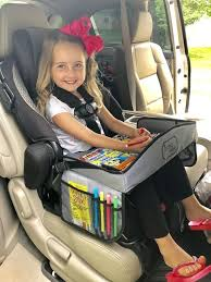 tray for road trips in the car seat