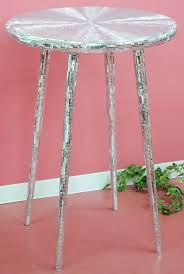 mirror mosaic high table maru leg round