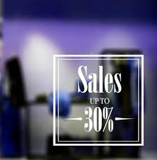 Sale Sign Shop Window Decals Your Percentage Discount Sign Etsy