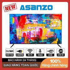 Smart Voice Tivi Asanzo ISlim 50 inch UHD 4K 50SL700 Android 9.0, Điều  khiển giọng nói, Wifi. DVB-T2, Tivi Giá Rẻ