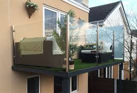 glass platform balcony stylish