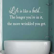Vwaq Life Is Like A Bath Wall Decal Bathroom Wall Decal White