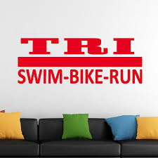 Hot Tri Decal Sticker Triathlon Special Lettering Vinyl Wall Sticker Decal Art Deco Mural Bedroom Living Room Diy Wall Decals Sale Wall Decals Sayings From Langru1002 9 15 Dhgate Com