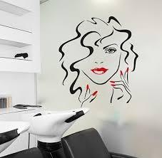 Beauty Face Wall Art Decal Salon Wall Sticker Design