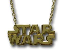 star wars gold logo necklace