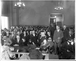 Courtroom Scene at Bennett Bridge Game Murder Trial   The Pendergast Years