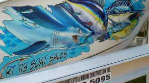 Large Vinyl Boat Decals And Vinyl Wraps Steve Diossy Marine Artist