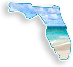 Amazon Com Florida Beach Sticker Fl Ocean State Vinyl Car Truck Laptop Cup Bumper Window Decal Everything Else