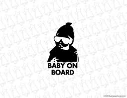 Baby On Board Hangover Baby Decal Northwest Royalty