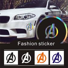 Car Stickers14x12cm Marvel S The Avengers Shield Rear Car Window Vinyl Car Decals Sticker 3d Reflective Funny Graphics Sticker Car Stickers Aliexpress
