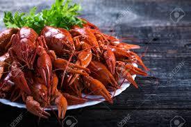 Big Plate Of Tasty Boiled Lobsters ...