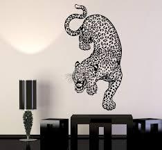 Vinyl Wall Decal Leopard Predator Animal Big Cat Zoo Stickers Unique G Wallstickers4you
