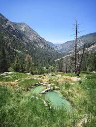 Triple Spring - Iva Bell Hot Springs - Sierra Photograph by Bruce Lemons