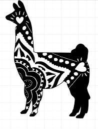 Boho Style Llama Window Decal Small