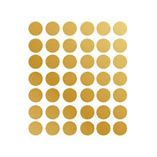 Gliving 42pcs Gold Wall Decal Dots Easy To Peel Easy To Stick Safe On Painted