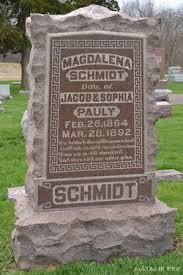 "Magdalena ""Lena"" Pauly Schmidt (1864-1892) - Find A Grave Memorial"
