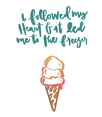 ice cream saying is life i followed by heart color palettes