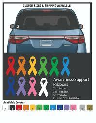 Yellow Ribbon Vinyl Decal Sticker Suicide Awareness Spina Bifida Bone Cancer For Sale Online Ebay