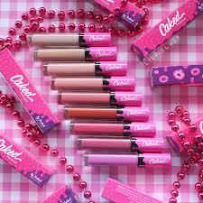 swatched caked cosmetics lip fondant