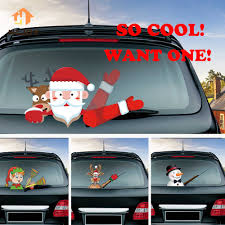 Christmas Tips Waving Wiper Decals Santa Claus Waving Wiper Tags With Decal Reusable Car Decor Windshield Window Wiper Sticker Wall Stickers Aliexpress